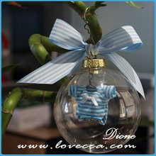 wholesale glass christmas open ball ornaments for home decoration