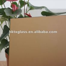 Bronze acid etched glass