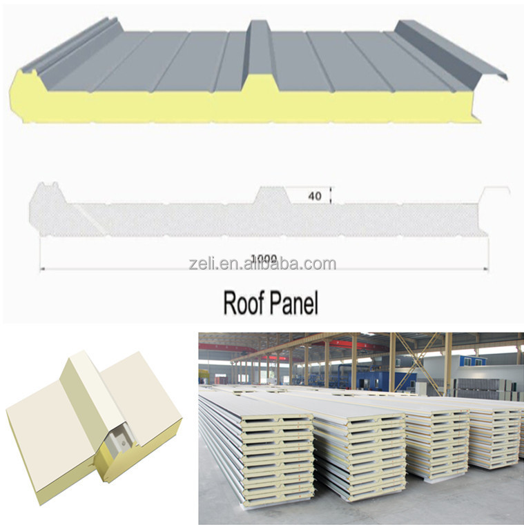 Polyurethane Sandwich Panel Roof : Pu sandwich panel for roofing wall