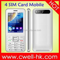 Cheap china Quad band mobile phone V8100 4 sim 4 standby mobile phone