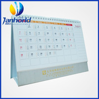 Direct Factory Manufacturing Custom Printing Spiral-Bound Desktop Calendar With Factory Price