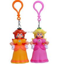 Rubber material pvc keychain,Custom princess shaped 3d soft pvc keychain,Custom girl Soft PVC Keychain