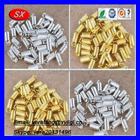 China custom gold/silver plated coil end extension spring