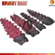 Super Synthetic hair weaving/Ombre color synthetic hair weft