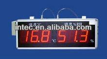 Gran pantalla de temperatura y humedad indicador