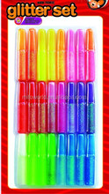 Rainbow colorful non-toxic gel pen glitter