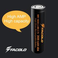 3.6v 18650 40a li-ion 2600mah 3.7v battery for e cig