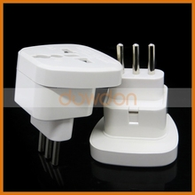 Copper Material 10A UK AU US EU Socket To Italy Plug Adapter with Safety Shutter