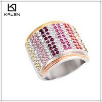 vogue design artificial women's jewellery diamond ring