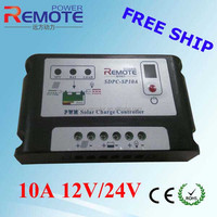 Free shipping 10A solar charge controller