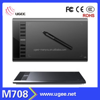 10x6 inch 2048 levels Ugee M708 230rps 5080LPI graphics digital writing tablet