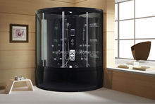2014 Comfortable new whirlpool steam room with black sexy acrylic tub