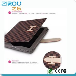 Fashion leather case with grid pattern leather case for ipad mini,for ipad 2,for ipad 3,for ipad 4