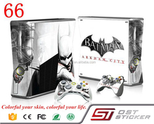 Hot selling new design batman vinyl decal for xbox 360 slim console controller skin sticker