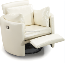 Living Room Modern Round Rocking Reclining Chair With Footrest