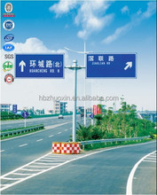 Steel hot dipped galvanized direction leading outside traffic road signs pole