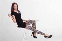 Women's polyester/elastane seamless cropped leggings