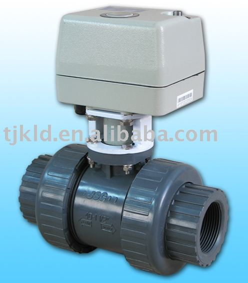Kld400 2 Way Motorized Ball Valve Upvc Cpvc For Automatic Control Water Treatment Process