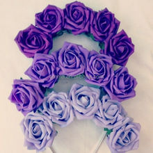 Hot sale fabric flower headband for girls latest nice headband crown young girl hair accessories wholesale H5053