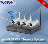 4CH 1080P WIFI IP Camera Kit Included 4CH Mini NVR Support P2P Technology and ONVIF