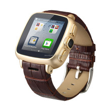 3G WiFi Wrist Watch Mobile Phone with 5MP camera and leather strap