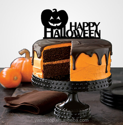 Halloween Pumpkin Cake Topper Holiday Acrylic Cake Topper Wholesale
