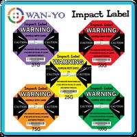[ Impact sticker worldwide logistics tracking for shipping warning ]