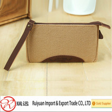 2015 New product Lady's Felt makeup Bag with personalized design made in China