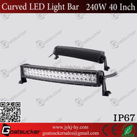 Hot!14400LM 240w 40 inch curved off road led light bar sxs hot 4x4 led light bar