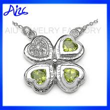 silver pendant jewelry plant pendant necklace