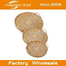 Professional Artisan handcraft 100% Natural wicker/rattan bread basket popular in detroit
