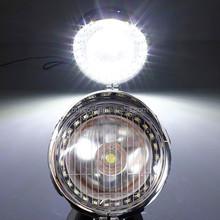 5W Motorcycle Angel Eye Fog Headlight Lamp For Harley Yamaha Honda