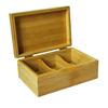 bamboo tea box, wooden storage bin, drawer storage organizer wholesale