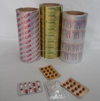 Primer/Printing /AL/VC glue ptp grade blister aluminum foil with heat sealing lacquer