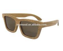 Gafas de sol madera Bambú carbonizado Lentes polarizadas de mujer Marcas famosas Hechos a mano Moda hombre