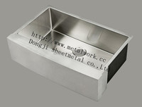 farmhouse sink made of 304 stainless steel