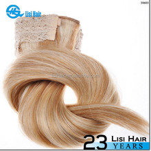 Directly Factory Double Weft Virgin Double Drawn Remy Cheap fishing line hair extension