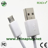 Short 24awg micro usb charger cable for samsung