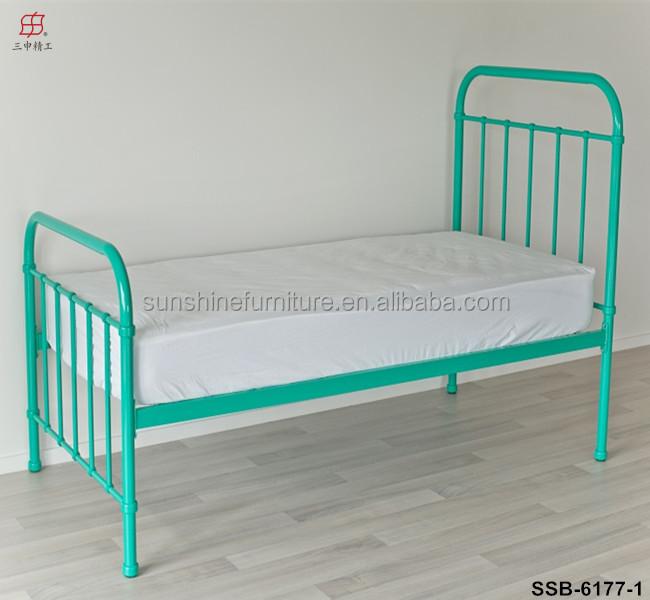 Cheap White Green Yellow Black Wood Slat Twin Size Kids