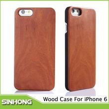 Lujo a prueba de golpes de madera Case para iphone6, caso de madera para iPhone6
