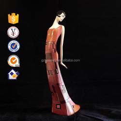 New design elegance lying lady sculpture home decor resin statue