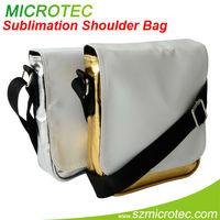 Sublimation PU Shoulder sublimation design your own messenger bag