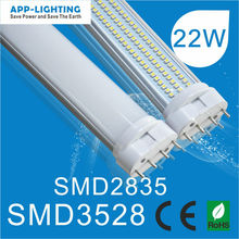 22w 2200lm 2g11 led tube replace Philip 55W PL Lamp