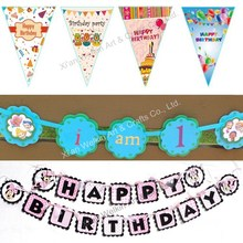 Crafted birthday banner design party favor