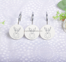 rounded type resin shower curtain hooks/unique portable cheap metal shower fancy curtain hooks