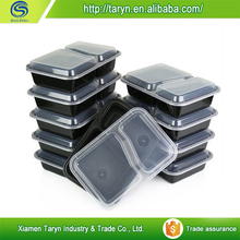 Top products hot selling new 2015 lock & lock disposable takeaway plastic food container 3 compartment