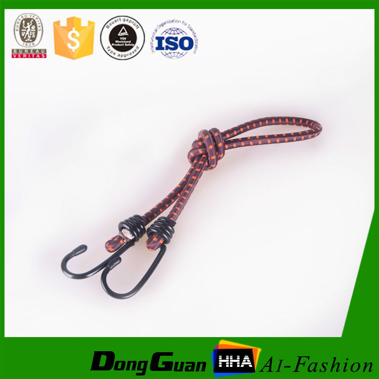 buona qualità ingrosso custom elastico corde elastiche con gancio
