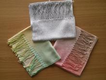 50% silk 50% wool OEM silk brand design handkerchief