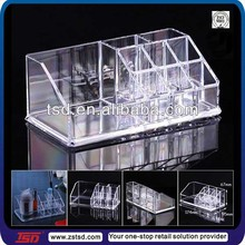 TSD-A050 Factory hot sale store clear acrylic display holder for lipstick/acrylic lipstick organizer/transparent lipstick holder