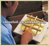 Desde 1996 fabricación gold leaf 24 K hoja dorado. dorado hoja